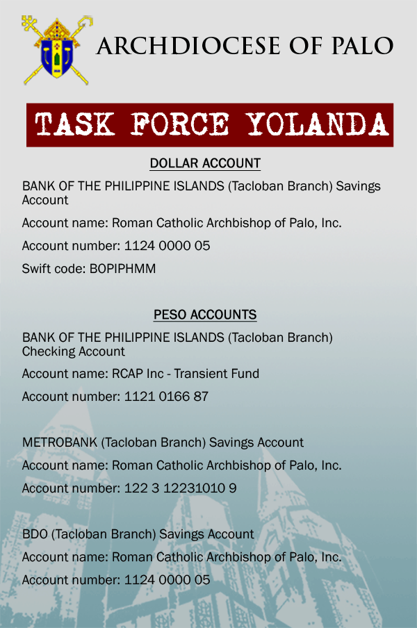 Bank details for Giving Page